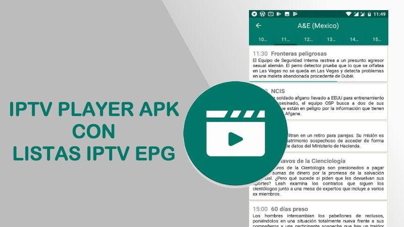 iptv player listas iptv m3u epg 2018 actualizadas aplicacion