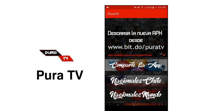 Que es Pura TV apk