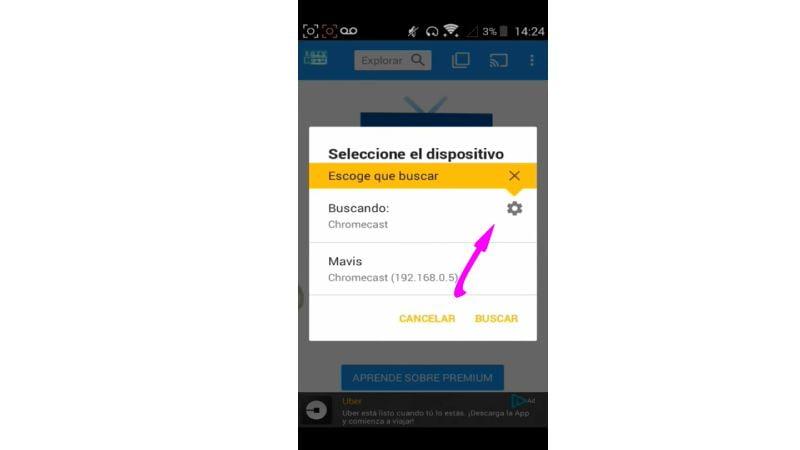 como enviar contenido de android a chromecast