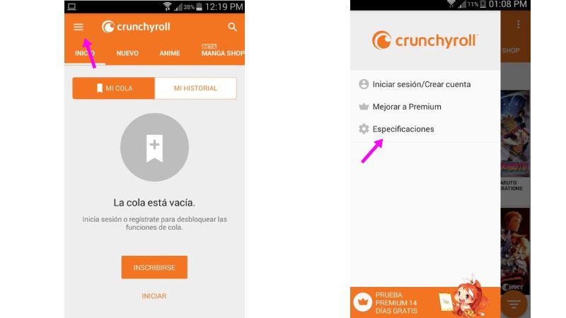 Descargar Crunchyroll hack APK