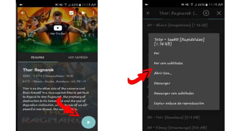 agregar subtitulo en Netfreex apk