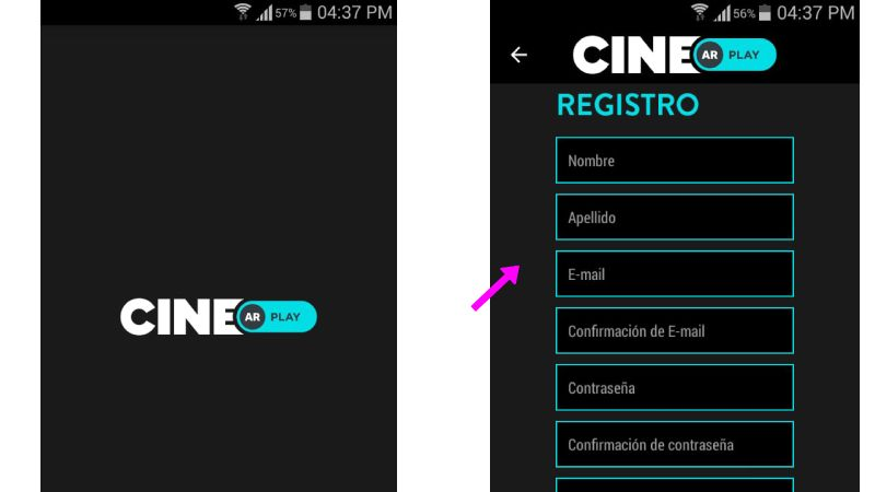 Registrase en CINE AR PLAY