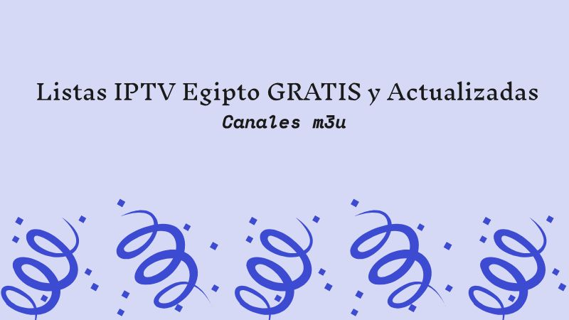 descargar LISTAS IPTV EGIPTO