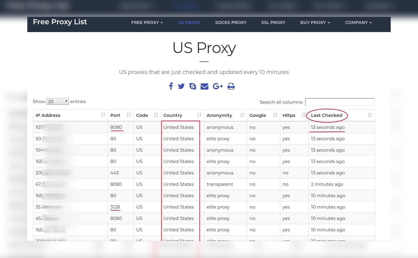 Proxys para mega gratis