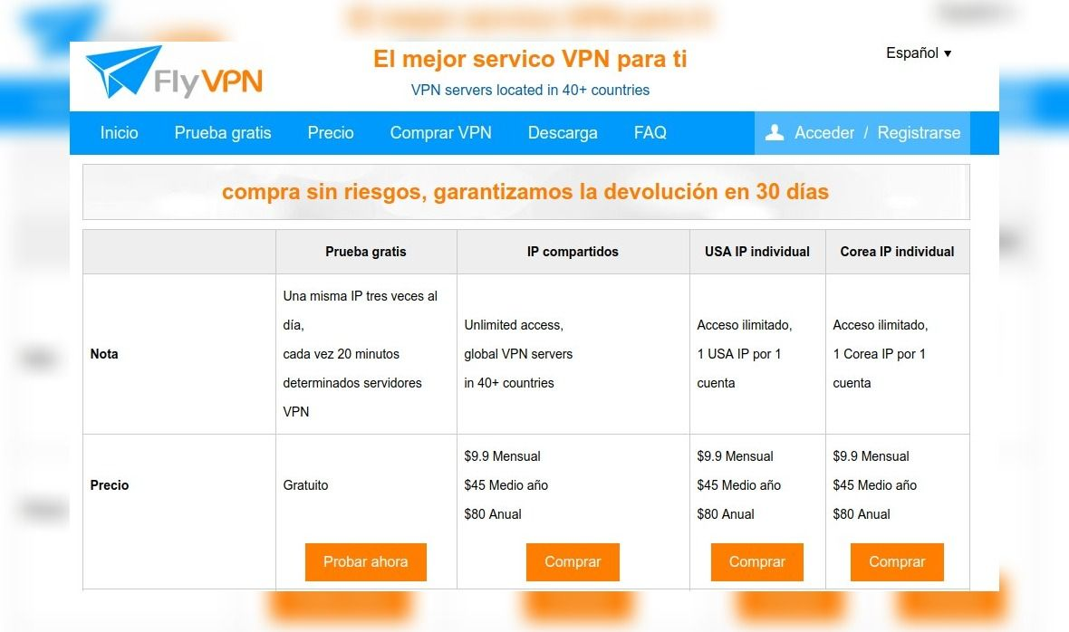 FlyVPN para Windows