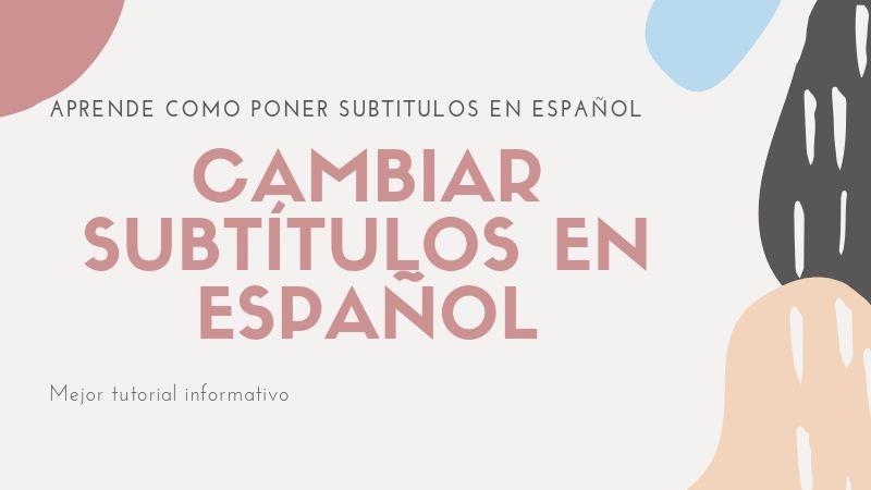 descargar subtítulos en español