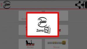 Zorro TV APK en Android: Ultima versión PREMIUM