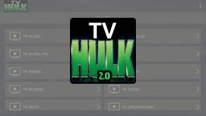 Hulk TV Apk: Versión Android y TV Box PC Windows MacBook