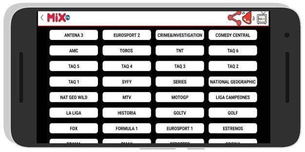 Mix TV apk para Android