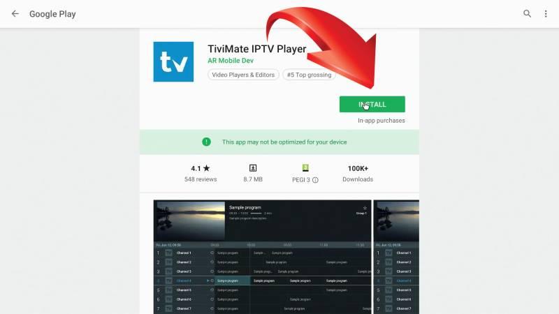 descargar TiviMate IPTV Player para TV Box