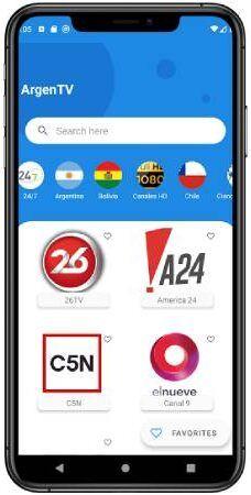 ArgenTV apk para telefonos Android