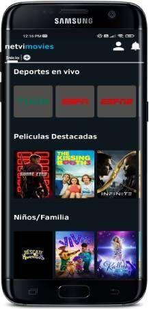 Netvi - Películas y TV app para Android gratis
