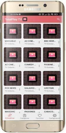 TotalPlay TV app para telefonos Android